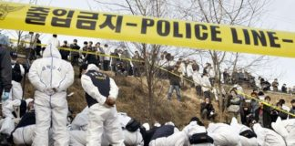 More than two million police officers were mobilised to try to identify the individual who raped and murdered women in rural parts of Hwaseong, south of Seoul. Photo: AFP